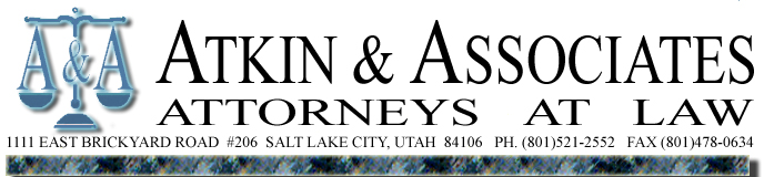 Atkin & Associates, experienced attorneys in workers' compensation, social security disability and personal injury.  801.521.2552